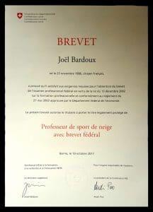bardoux joel, joel bardoux, nomad snowboard, nomadsnowboard, brevet fédéral, diplôme, expérience