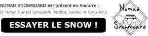 nomad snowboard, leçon de snowboard, réservation, débutant, intermédiaire, confirmé