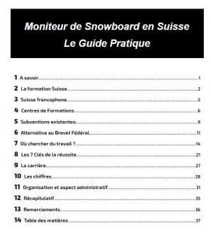 aperçue de l'index du manuel, Comment devenir moniteur de snowboard en Suisse, nomad snowboard, guide pratique du moniteur de snowboard en Suisse, Swiss Snowsports, SSBS, Formation de snowboard Suisse, diplôme Suisse de snowboard, instructeur Suisse de Snowboard, nomad snowboard, nomadsnowboard, bardoux joel