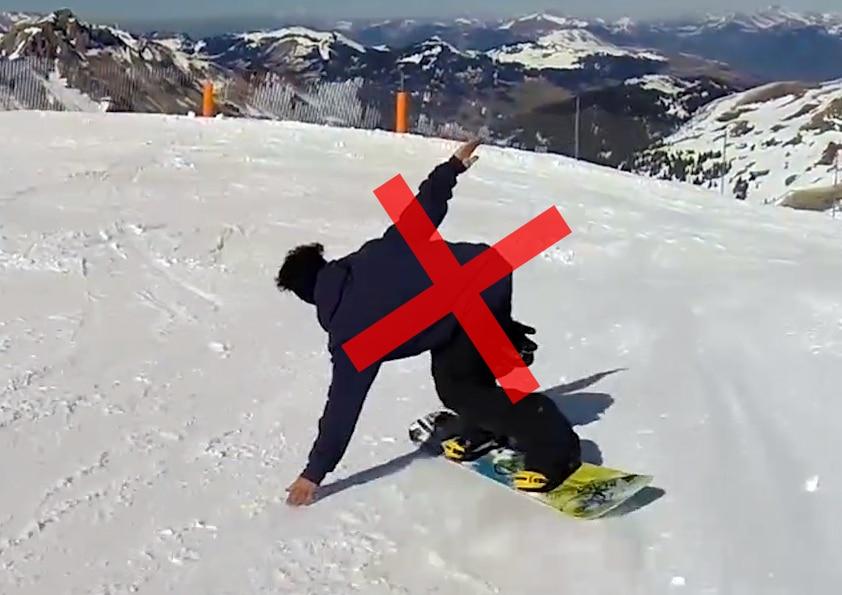 Erreur carving snowboard, nomad snowboard