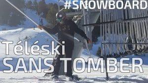 snowboard comment prendre un téléski sans tomber, snowboard comment prendre un tire fesse