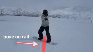 snowboard, apprendre le board slide à l'arrêt