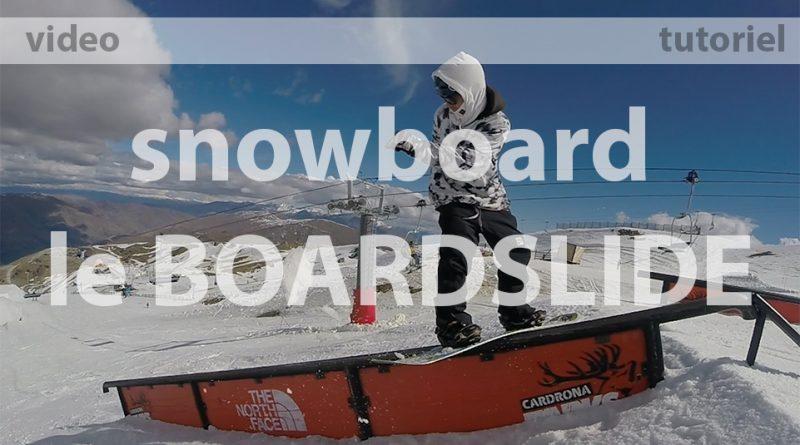 nomad snowboard, comment faire un board slide en snowboard, tutoriel
