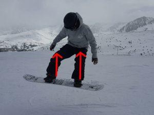 nomad snowboard, comment faire un ollie en snowboard. position groupée