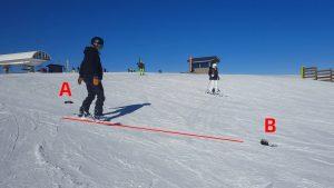 s'entrainner à glisser droit en snowboard