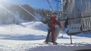 snowboard, équilibre départ d'un téléski