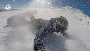 nomad snowboard, chute en snowboard en body carve, elbow carve, carving