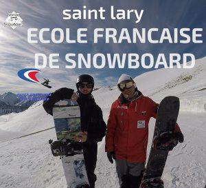 Ecole de snowboard en France, Ecole Française de snowboard, saint lary snowboard, apprendre le snowboard en france