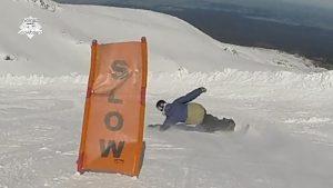 snowboard euro carve, elbow carve, joel bardoux, nomad snowboard