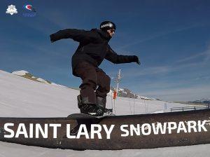 snowpark de saint lary, snowboard, snowpark de France