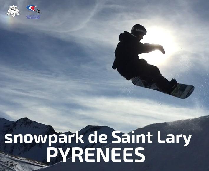 snowboard snowpark de Saint lary, Pyrénées
