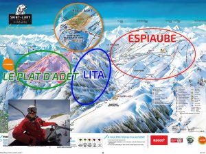 saint lary domaine skiable, Espiaube, Plat d'Adet, LITA, Saint Lary plan des pistes