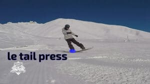 tail press, snowboard tutoriel, tail press, contre rotation, half cab, MFM, butter
